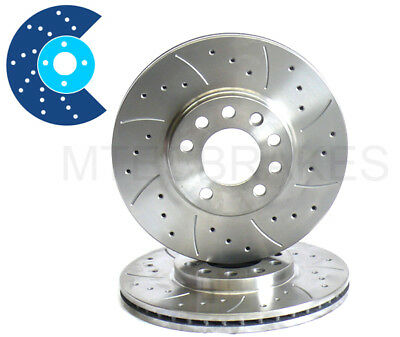 Mitsubishi Lancer Evo 320Mm Drilled Grooved Brake Discs