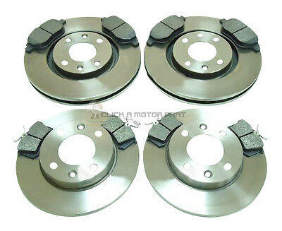 CC Peugeot 307 2.0 Front /& Rear Brake Pads Discs Set 283mm 246mm 135 01//01