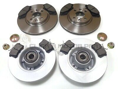 Renault Megane Mk2 Dci Front & Rear Brake Discs & Pads Wheel Bearings Abs Rings