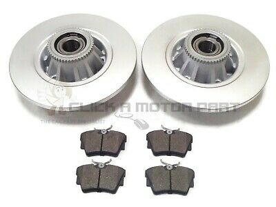 Vauxhall Vivaro Rear 2 Brake Discs Pads And Fitted Wheel Bearings Abs Rings New