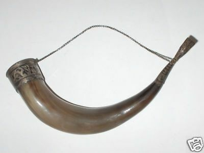 Antique Imperial Russian Hand Made Silver 84 & Niello Hunting Horn Drinking Cup