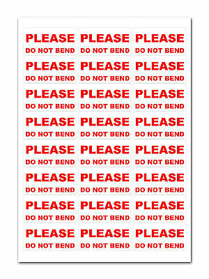 240 - Do Not Bend - Labels Medium Stickers