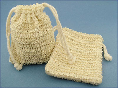 Natural Fiber Mesh Soap Sack (Saver/Sock/Pouch/Holder)