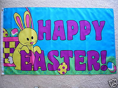 3' X 5'  Happy Easter  Flag