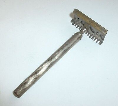Early Antique German Nickel-Plated Brass Safety Razor