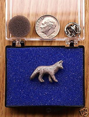 Empire Pewter Fox Single Posted Pin / Tie Tack
