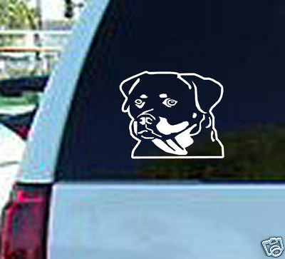 Rottweiler Dog outline  Pet Puppy window sticker decal