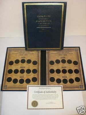 Colorized State Half Dollar Collection Gld Binder 99-04
