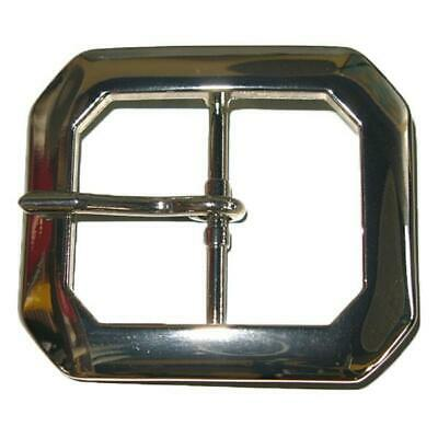 "Clipped Corner Buckle 1.5"" Nickel"