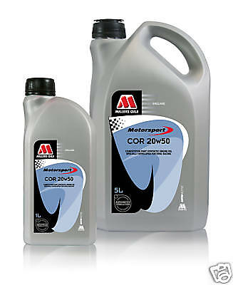 Millers motorsport oil 20W50 4X5LT ideal for stockcars