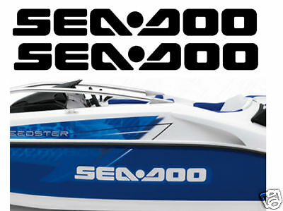 2x SEADOO JETSKI LOGO DECAL STICKER GRAPHIC 2ft WIDE