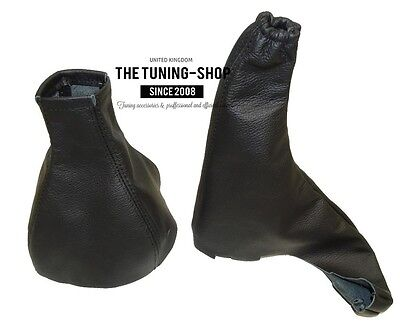For Vauxhall Opel Astra G Gear & Handbrake Gaiter Gaitor Black Leather Covers