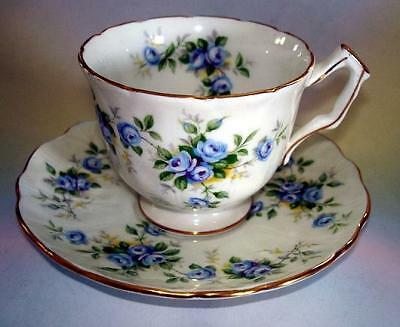 "Pretty Aynsley ""Marine Rose"" Cup & Saucer"