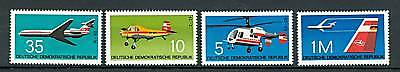 DDR 1972 Mi.1749/52 - Airplanes - Aeroplani