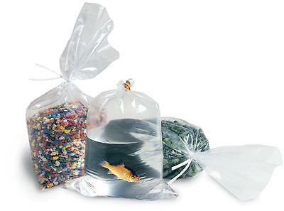 100 15x18 Clear Flat Poly Open End Stock Bags Plastic Shipping Supplies