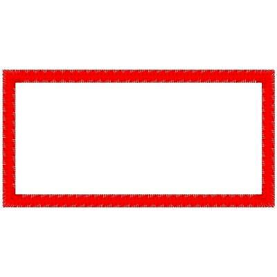 Custom Embroidered Square Corner Patch 2 X 4