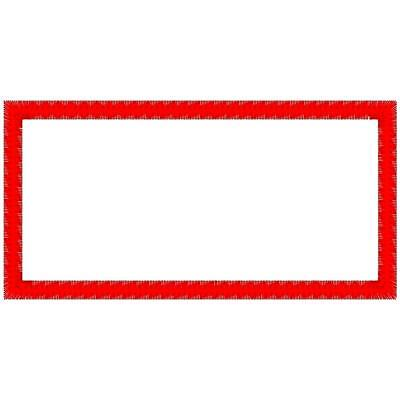 Custom Embroidered Square Corner Patch
