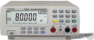 VC8145 80000 BenchTop MultiMeter AC/DCV/A R C F T RS232