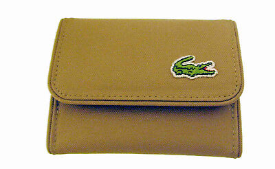 New Authentic Vintage LACOSTE Ladies Leather PURSE WALLET Chantaco 5 Sand