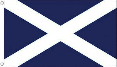 ST ANDREWS CROSS FLAG 5' x 3' Dark Blue Saltire Scotland Scottish Saint Andrew