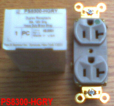 New P&S Ps8300-Hgry Receptacle 20 125 Gray Hbl8300Gy