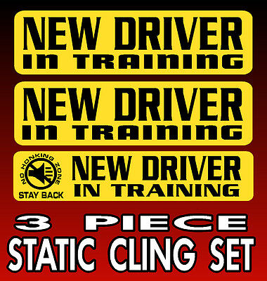 New Student New Driver STATIC CLING Instead of Magnetic