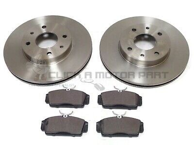 For Nissan Primera P11 1.6 1.8 2.0 1996-2001 Front 2 Brake Discs And Pads Set