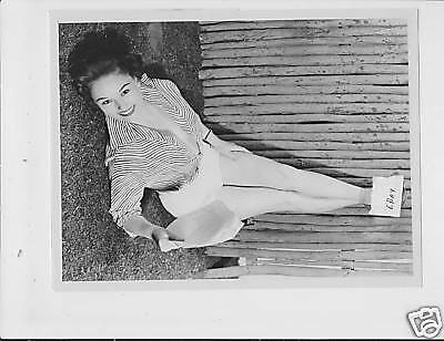 Nancy Wilder busty leggy VINTAGE Photo caption sheet
