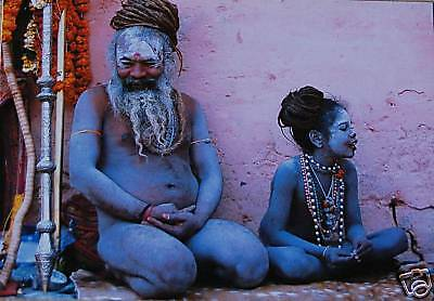 Sadhus Of India - Father & Son - Postcard - New