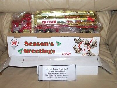 1998 Texaco Gold Season's Greeting Tanker- Mib
