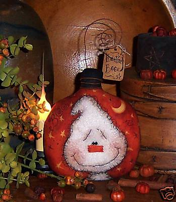 Primitive Halloween Doll Pillow Ghost Ornie Pattern 521
