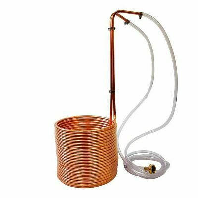 "NY Brew Supply 50' Copper Wort Chiller 3/8"" - Beer Homebrew Immersion"