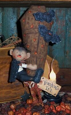 Primitive Patti's Ratties Dracula Doll Halloween Bat Ornie Paper Pattern #341