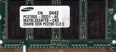 NEW 256mb Dell Inspiron 1000 1150 2650 4150 300M DDR Laptop/Notebook RAM Memory