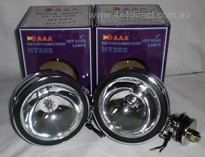 CHROME ROUND DRIVING 4x4 SPOT FLOOD LIGHTS 4WD ~NEW~