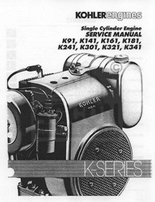 Kohler K Series K91 K161 K181 Engine Service Manual