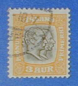 1907 ICELAND 3A OFFICIAL STAMP SCOTT#O31 MICHEL#24 USED