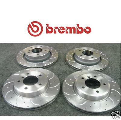 BMW 3  Cabrio E46 318Ci 01-07 Front Brake Discs /& Pads Dimpled /& Grooved