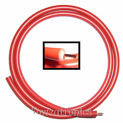 RED HT High Tension Ignition Lead / Cable  - priced per metre