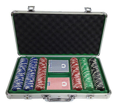 300 Clay 11.5 Ace/Jack Poker Chips Custom Set w/ Case**