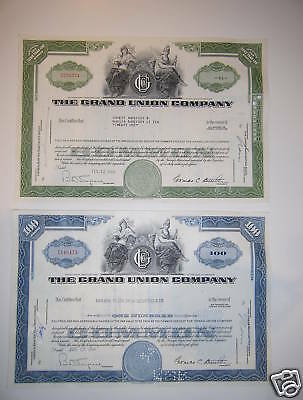 The Grand Union Company, PAIR old logo diff colors '60s