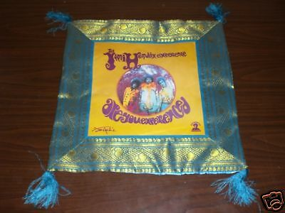 Jimi Hendrix ARE YOU EXPERIENCED TEAL Throw Pillow Case