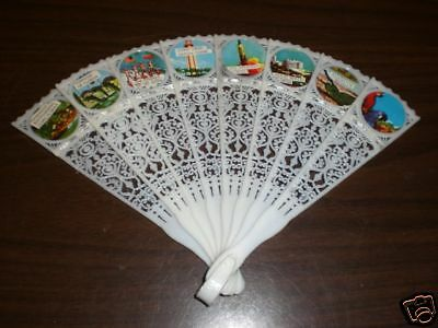 Vintage Foldable Hand Fan Of Sites In Florida  NEW