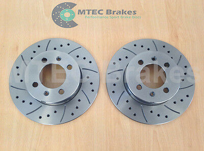 Drilled Grooved Front Brake Discs /& MTEC Pads For MGTF 1.8VVC 160bhp 02-05