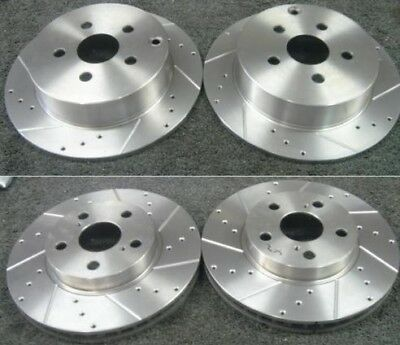 Toyota Celica 1.8 VVTi 02-06 Rear Brake Discs Drilled Grooved Gold Edition