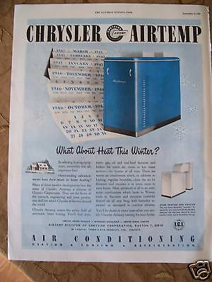 1946 Chrysler Airtemp Air Conditioning Conditioner Ad