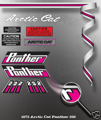 1972 ARCTIC CAT PANTHER 292 DECAL GRAPHIC KIT LIKE NOS