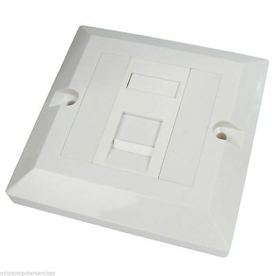 CAT 6 Single Wall Face plate Socket RJ45 Network LAN