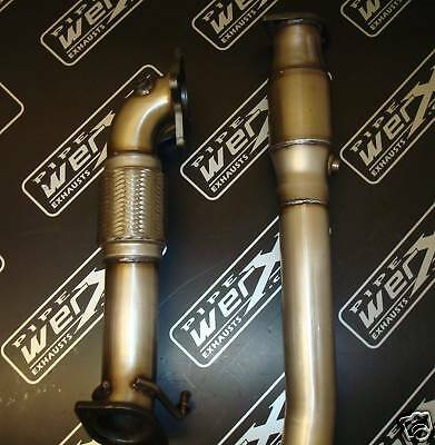 """golf mk5 gti 3"""" Exhaust Down Pipe  High Flow Sports Cat"""