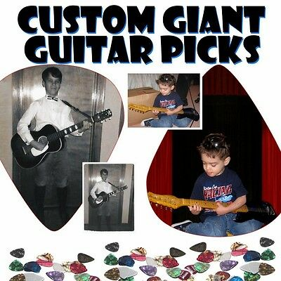 HUGE GIANT Guitar Pick Wall Art-CUSTOM DESIGN YOUR IDEA - Man Cave GIFT